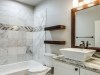 Guest Bath with Floating Shelves